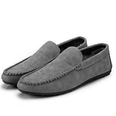 בגדי ריקוד גברים מוקסין PU אביב / סתיו נעליים ללא שרוכים שחור / אפור / אדום
