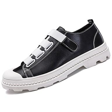 נעליים PU אביב סתיו נוחות נעלי ספורט ל קזו'אל לבן שחור אדום