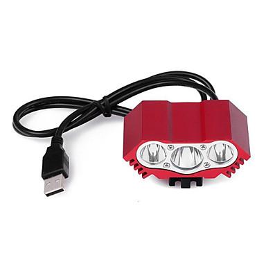 billige Lommelykter & campinglykter-Led Lys LED LED emittere 12000 lm 2 lys tilstand med batteri, lader og adapter Hurtighet Vandring Proff Camping / Vandring / Grotte Udforskning Dagligdags Brug Sykling Svart Rød