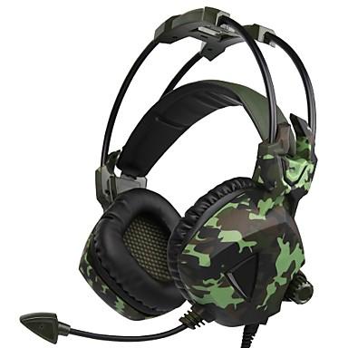 SADES SA-917 רצועת ראש חוטי אוזניות דִינָמִי פלסטי גיימינג אֹזְנִיָה עם מיקרופון אוזניות