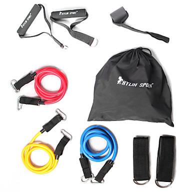 KYLINSPORT Set Benzi de Rezistență Cu Trusă / Curea Gleznă / Ancora de ancorare 9 pcs Cauciuc Antrenament forță, Tracțiuni, Fizioterapie Pentru Yoga / Pilates / Fitness Casă / Birou