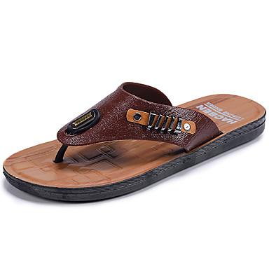 Miesten kengät Kumi Kesä Comfort Sandaalit varten Oranssi Ruskea