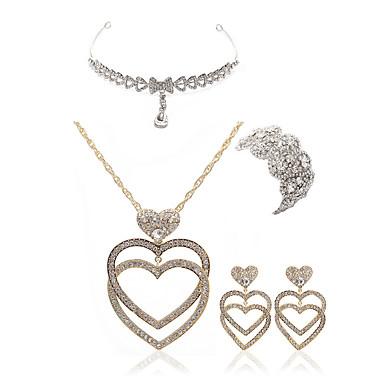 בגדי ריקוד נשים סט תכשיטים - יהלום מדומה טיפה ארופאי, אופנתי לִכלוֹל תכשיט מצח / סטי תכשיטי כלה זהב עבור חתונה / Party