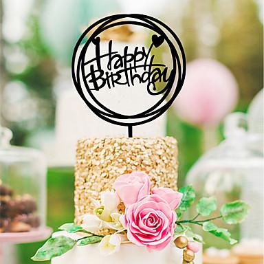 voordelige Feestbenodigdheden-Bruiloft / Verjaardag Acryl Bruiloftsdecoraties Klassiek Thema Alle seizoenen