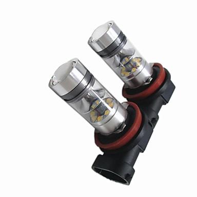 2pcs נורות תאורה 100W לד בתפקוד גבוה 20 אורות ערפל For Fiat 2018 / 2017 / 2016