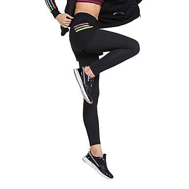 בגדי ריקוד נשים טייץ לריצה - שחור ספורט טייץ רכיבה על אופניים / חותלות לבוש אקטיבי ייבוש מהיר