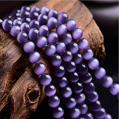 voordelige Dames Sieraden-DIY sieraden 46 stk kralen Synthetische Edelstenen Paars Rond Kraal 0.8 cm DIY Kettingen Armbanden