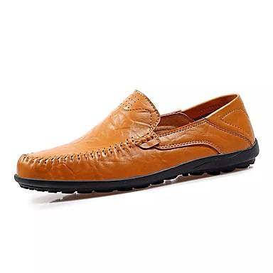 Férfi cipő PU / Nappa Leather Tavasz / Nyár Könnyű talpak / Mokaszin Papucsok & Balerinacipők Vízi cipő Fekete / Barna