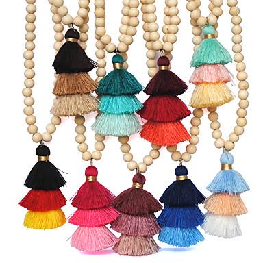 בגדי ריקוד נשים פרנזים / ארוך שרשראות תליון / Collar - בוהמי, בוהו כחול בהיר, ירוק בהיר, ירוק כהה שרשראות לא זמין עבור חתונה, יומי