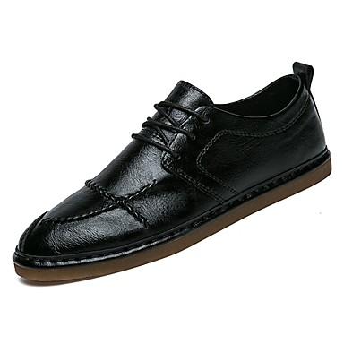 בגדי ריקוד גברים נעלי נוחות PU סתיו נעלי ספורט לבן / שחור / חום
