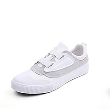 בגדי ריקוד גברים קנבס אביב / סתיו נוחות נעלי ספורט לבן / שחור / שחור לבן