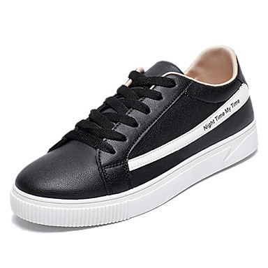 בגדי ריקוד גברים נעליים PU אביב / סתיו נוחות נעלי ספורט שחור / אדום / כחול