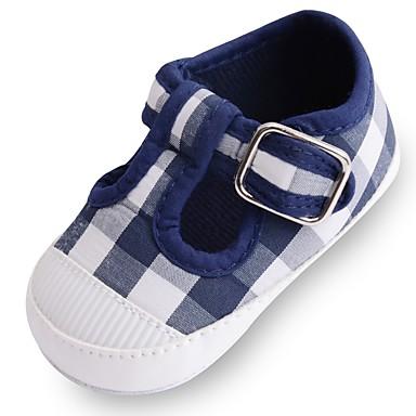 בנות נעליים בד אביב קיץ נוחות / צעדים ראשונים / נעליים לעריסה שטוחות סקוטש ל לבן / כחול / ורוד