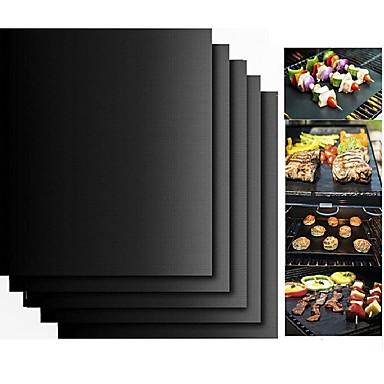 halpa Keittiö ja ruokailu-2 kpl paksu PTFE grilli matto tarttumaton uudelleenkäytettävä BBQ grilli matot arkki grilli kalvo bbq liner