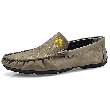 בגדי ריקוד גברים מוקסין גומי אביב / סתיו נעליים ללא שרוכים שחור / אדום / חאקי