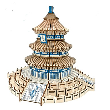 3D Puzzle Wooden Puzzle Architecture Fashion Chinese Architecture Temple of Heaven Classic Fashion New Design Professional Level Focus