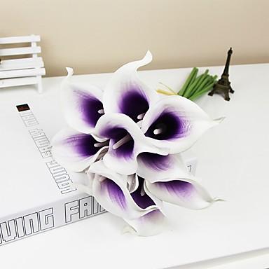 פרחים מלאכותיים 6 ענף פסטורלי סגנון חבצלות (קלה לילי) פרחים לשולחן