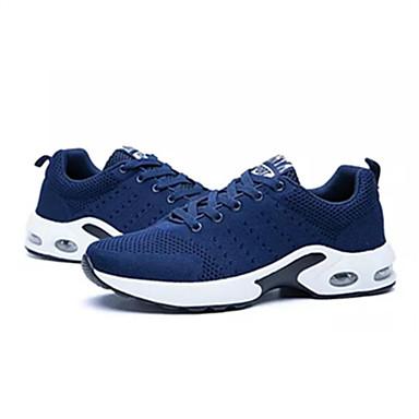 Homens sapatos Tule Primavera / Outono Conforto Tênis Caminhada Preto / Azul Escuro / Cinzento Claro