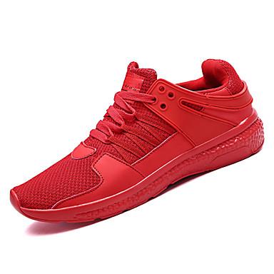 בגדי ריקוד גברים טול אביב / סתיו נוחות נעלי אתלטיקה ריצה לבן / שחור / אדום