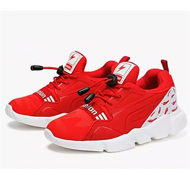 Para Meninas Sapatos Tule Verão Conforto Rasos Caminhada para Preto / Vermelho / Azul