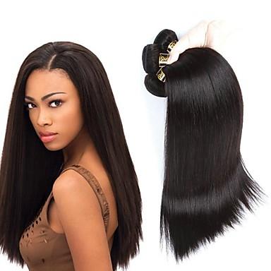 4 חבילות שיער ברזיאלי ישר שיער אנושי טווה שיער אדם שוזרת שיער אנושי תוספות שיער אדם