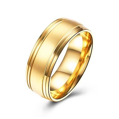 בגדי ריקוד גברים טבעת הטבעת - פלדת על חלד אופנתי 7 / 8 / 9 זהב עבור מתנה / יומי