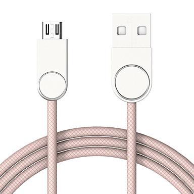 מיקרו USB תשלום מהיר כבל סמסונג / Huawei / LG ל 100 cm עבור סגסוגת אבץ