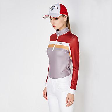 בגדי ריקוד נשים גולף רוכסן עליון עמיד / ייבוש מהיר / נשימה גולף / פעילות חוץ ספורט וחוץ / חורף