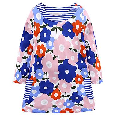 שמלה כותנה יומי חגים פרחוני הילדה של חמוד יום יומי ורוד מסמיק