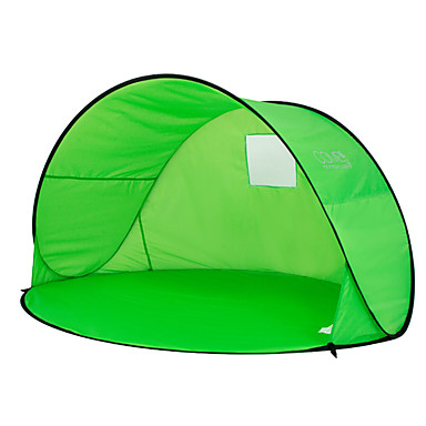 رخيصةأون مفارش و خيم و كانوبي-2 الأشخاص خيمة للشاطئ في الهواء الطلق مكتشف الأمطار مكتشف الغبار حماية الشمس طبقة واحدة أوتوماتيكي أنبوب و نفق خيمة التخييم 1000-1500 mm إلى التخييم والتنزه البوليستر بوليستر