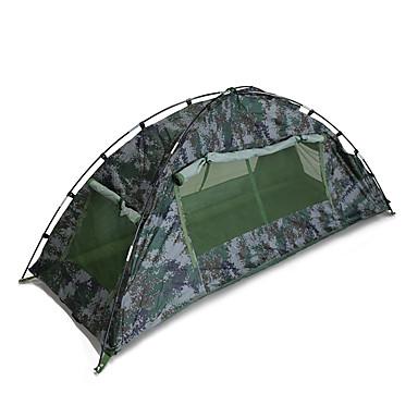 1 Pessoa Tenda Duplo Barraca de acampamento Ao ar livre Tenda Dobrada Á Prova-de-Pó para Equitação Campismo 1500-2000 mm Fibra de Vidro