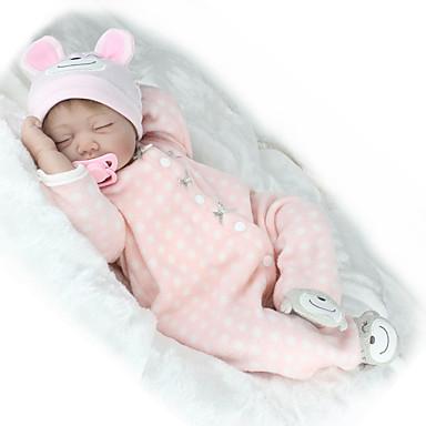 NPK DOLL בובה מחדש תינוקות בנות 22 אִינְטשׁ סיליקון ויניל - כְּמוֹ בַּחַיִים ריסים ידניים ציפורניים אטומות וחותמות הילד של בנות צעצועים מתנות / CE / עור טבעי / ראש דיסקט