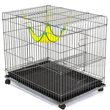 חתולים מגש כלובים בתים חיות מחמד ליינרים אחיד מתקפל עמיד גמיש כסף עבור חיות מחמד