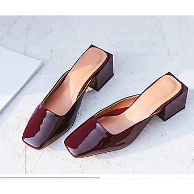 Amande Bas amp; Confort Femme Bourgogne Mules Automne 06555210 Talon Cuir Brun Chaussures Sabot claire Printemps wxzBzgvqY