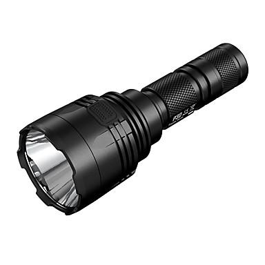 رخيصةأون المصابيح اليدوية وفوانيس الإضاءة للتخييم-Nitecore P30 LED Flashlights LED CREE® XP-L HI V3 1 بواعث 1000 lm 8.0 إضاءة الوضع مقاوم للماء محمول Impact Resistant Camping / Hiking / Caving الصيد أسود