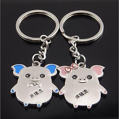 רומנטיקה / חיה מצדדים במחזיק מפתחות סגסוגת אבץ מחזיקי מפתחות - 2 pcs כל העונות