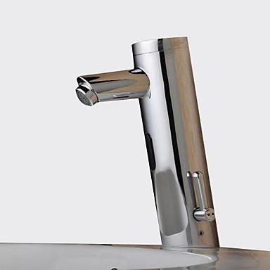 Moderne Centersat Sensor Magnetventil Et Hull Handsfree Et Hull Krom , Baderom Sink Tappekran