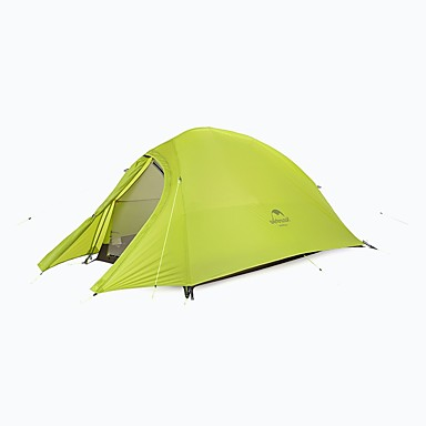 Naturehike 1 אדם בָּחוּץ אוהלים לטיפוס הרים עמיד מוגן מגשם ייבוש מהיר עמוד Dome חדר אחד שכבה כפולה >3000 mm קמפינג אוהל ל מחנאות וטיולים ג'ל סיליקה בד אוקספורד 230*110*100 cm