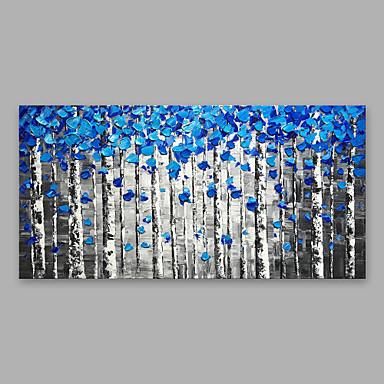 ציור שמן צבוע-Hang מצויר ביד - פרחוני / בוטני מודרני כלול מסגרת פנימית / בד מתוח