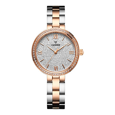 cheap Women's Watches-CADISEN Women's Wrist Watch Pave Watch Gold Watch Japanese Quartz Stainless Steel White / Rose Gold 30 m Water Resistant / Waterproof Casual Watch Analog Ladies Casual Fashion Elegant - White Black