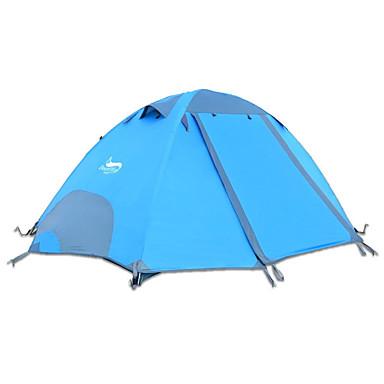 DesertFox® 2 الأشخاص خيم حقيبة الظهر في الهواء الطلق مقاوم للماء ضد الهواء ضد القرص طبقات مزدوجة قطب الماسورة القبة خيمة التخييم 2000-3000 mm إلى التخييم والتنزه أكسفورد 270*210*115 cm