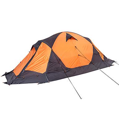 MOBI GARDEN 2 personer Turtelt Dobbelt Lagdelt Stang Kuppel camping Tent Utendørs Bærbar, Vanntett, Hold Varm til Vandring / Camping / Reise Oxford / Ultra Lett (UL) / Vindtett