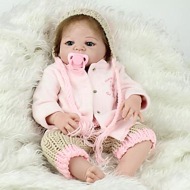 NPK DOLL בובה מחדש תינוק 22 אִינְטשׁ גוף מלא סיליקון / סיליקון / ויניל - כְּמוֹ בַּחַיִים, ריסים ידניים, ציפורניים אטומות וחותמות הילד של מתנות / CE / עור טבעי / ראש דיסקט