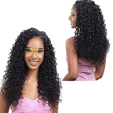 3 חבילות שיער ברזיאלי Kinky Curly 8A שיער אנושי טווה שיער אדם שוזרת שיער אנושי תוספות שיער אדם / קינקי קרלי