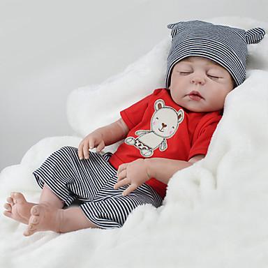 NPK DOLL בובה מחדש תינוק 22 אִינְטשׁ גוף מלא סיליקון / סיליקון / ויניל - כְּמוֹ בַּחַיִים, ריסים ידניים, ציפורניים אטומות וחותמות הילד של בנות מתנות / CE / עור טבעי / ראש דיסקט