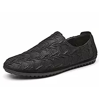 בגדי ריקוד גברים מוקסין PU אביב / סתיו נעליים ללא שרוכים שחור / אפור / חאקי