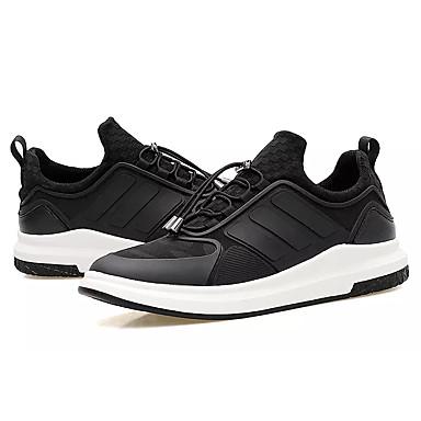 男性用 靴 PUレザー 春 秋 コンフォートシューズ アスレチック・シューズ ランニング のために スポーツ ブラック ブラック/レッド