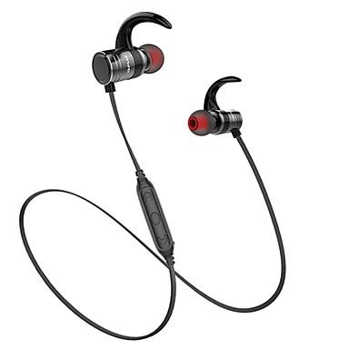AWEI באוזן אלחוטי אוזניות דִינָמִי מעטפת מתכת ספורט וכושר אֹזְנִיָה עם בקרת עוצמת הקול / סטריאו אוזניות