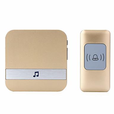 A9 אלחוטי צלצול פעמון אחד לאחד מוסיקה / דינג דונג צליל מתכווננת משטח מורכב פעמון הדלת