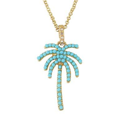 levne Dámské šperky-Dámské Náhrdelníky s přívěšky Imitace turmalínu Kokosový strom Jednoduchý Základní Zlatá Náhrdelníky Šperky Pro Denní Rande